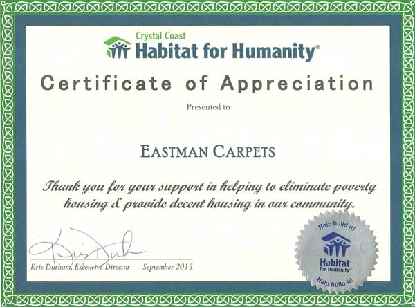 Habitat for Humanity Award